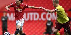 Com gols de Greenwood e Cavani, Manchester United vence o Burnley no Inglês